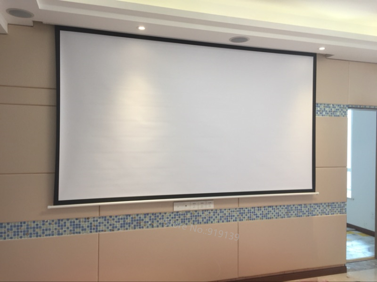 150inch Electric projection screen pic 21