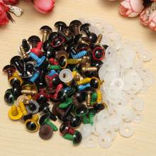 New 80Pcs/40Pairs 10mm Mix Color Plastic Safety Eyes DIY For Teddy Bear Stuffed Toy Snap Animal Puppet Doll Craft Toy Part(China)