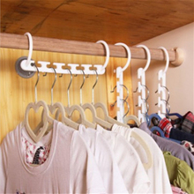 Best 1pc Space Saving Hanger Plastic Cloth Hanger Hook Magic Clothes Hanger With Hook Closet Organizer(China)