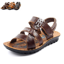 kids Sandals boys Sandals new style leather cowhide baby Beach baby sandals