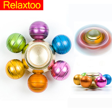Hexagonal Spinner Colorful Metal Hand Fidget DIY Spinner Zinc Alloy Puzzle Finger Toy EDC Focus ADHD Austim Super Fast Toy Gifts