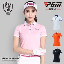 PGM Golf Polo Shirt Lady Short Sleeved T-shirt Summer Sportswear Clothes Dry Fit Tops Tennis Tshirt Ropa De Golf Polera Hombre(China)