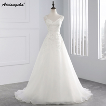 Vestido De Noiva New Design Cap Sleeves Casamento A line Robe De Mariage Long Lace Wedding Dresses 2017(China)