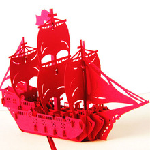 3D Pop Up Greeting Card Handmade Ship Birthday Easter Anniversary Christmas-Y102(China)