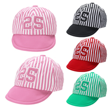 Fashion Baby Kids Sun Hat Comfortable Cotton Infant Casual Striped Soft Eaves Baseball Cap Cute Baby Girl Boy Beret Sunshade Cap(China)