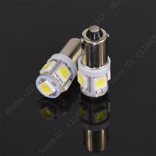 10pcs High Quality BA9S 434 T4W 5 LED 5050 SMD H6W Car Auto Interior Reading Lights Dome Lamp DC 12V