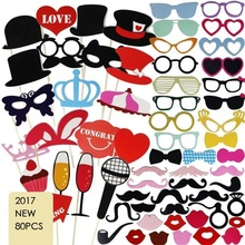 80pcs Kids baby bridal shower happy Birthday Party favor Photo Booth Props Funny Masks Bridesmaid Gifts For Wedding Decoration