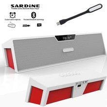 Sardine HIFI White portable wireless bluetooth Speaker, Aux Stereo soundbar FM radio subwoofer column for computer mp3 player(China)