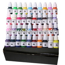 High Quality Set Of 40 Colors Tattoo Ink 1/4OZ Pigment 8ML/Bottle For Tattoo Kits Gun Grips Beauty Tattoo Supply