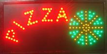 2017 Pizza shop open led sign hot sale customed 10x19 inch semi-outdoor Pizzas store Ultra Bright flashing led sign(China)