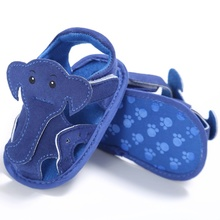Elephant Pattern Hollow Baby Boy Casual Soft Sole Prewalkers Summer Shoes 0-18 M