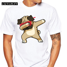 Buy 2017 Summer Fashion Dabbing Pug T-Shirt Newest Men Funny T Shirts Dabbing Unicorn/Cat/Zebra/Panda Tops Hip Hop Tee for $4.68 in AliExpress store