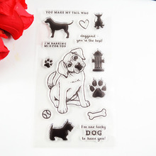 Pet series Lucky Dog Cute cat TPR clear stamp Transparent Stamp For DIY Scrapbooking/Card Making/ Decoration Supplies