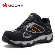 Modyf men steel toe safety work shoes casual breathable outdoor boots puncture proof protection footwear(China)