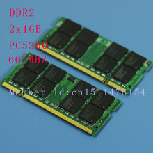 New 2GB 2x1GB PC2-5300S DDR2-667 667 MHz 200pin DDR2 memory Laptop 1G PC2 5300 667 Notebook model SODIMM RAM pengiriman gratis