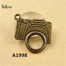 BoYuTe (60 Pieces /lot) 23*21MM Vintage Charms Camera Pendant Antique Bronze fit Bracelets Necklace Diy Metal Jewelry Making(China)
