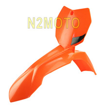 Orange Motorcycles Front Fender Front Number Plate Motorcross for KTM 250 SX-F 250 XCF-W 450 SX-F 2013-2015