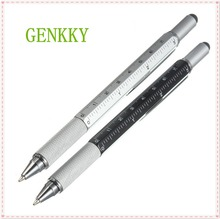 1pcs/lot New Arrival Tool Ballpoint Pen Screwdriver Ruler Spirit Level With A Top And Scale Multifunction Plastic Pen