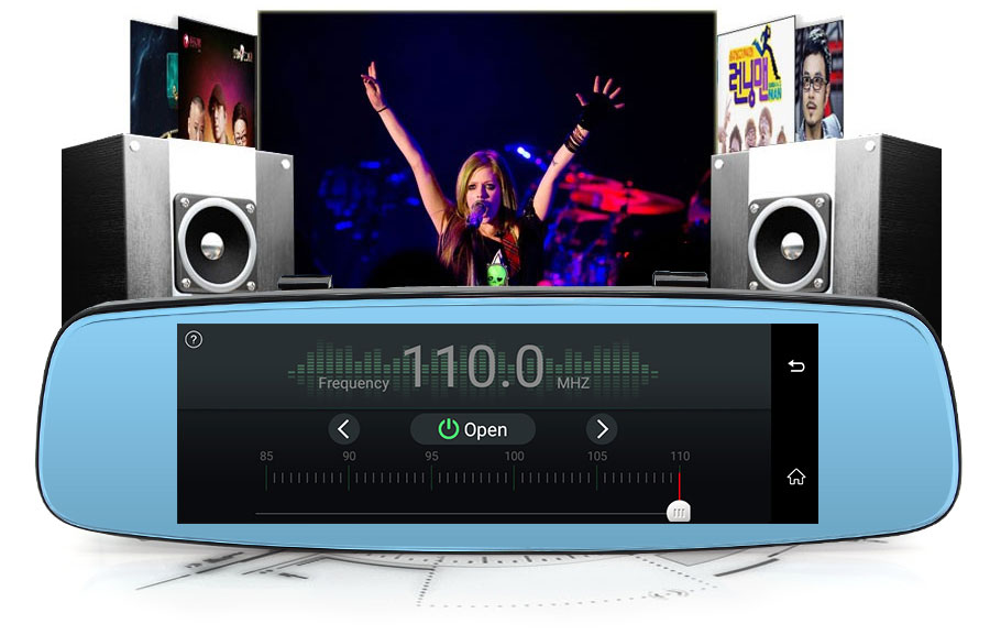 "Junsun 4G ADAS Car DVR Camera Digital Video recorder mirror 7.86"" Android 5.1 with two cameras dash cam Registrar black box 16GB 32"