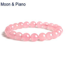 Buy Rose Quartz Bracelet Natural Pink Crystal Bead Women Love Gift Classic Natural Stone Charms Party Jewelry for $8.01 in AliExpress store