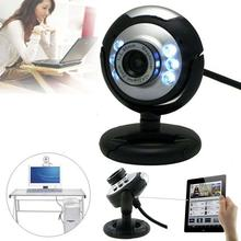 HD 12.0MP 6 LED USB Webcam Camera with Mic Night Vision for Desktop PC Laptop APE