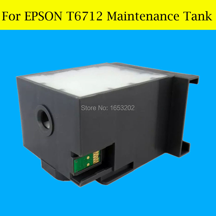 1 Piece T6712 Waste Ink Tank For Epson WF-8090D3TWC/8510DWF/8010DW/6590DWF/6090DW Printer Maintenance Tank Box<br>