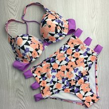 OPZC  Brand 2017 NEW Hot Design Swimwear Women Bikini High waist Sexy Thong  Suit Split swimsuit Brazilian Bikini  Swimsuits