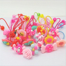 Girl Hairbands Elastic Hair Bands Flower Scrunchy Headband Floral Ring Girls Hair Accessories Headband Random Ribbon Ornaments(China)