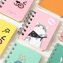 2018Planner Stickers Organizador Coils Portable Notebook Mini Trumpet Pocket Bookstationery Student Stationery Office Memo Pad(China)