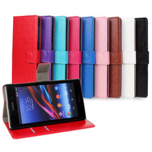 Luxury Genuine Leather Flip Cover Case Sony Xperia Z1 L39h C6902 C6903 Phone Skin s - Shenzhen Mobile Accessories/Case Co., Ltd store