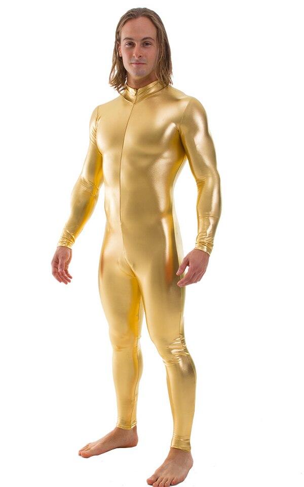 Mens-Metallic-Gold-Bodysuit-Zentai-Catsuit-S-and-M-Costume-C1FZ-5812-F
