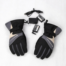 Electric Heated Glove Warmspace with 3.7V 3600mAh Li-ion Battery Outdoor Heating Gloves Smart Gloves Ski Snowboard Gloves Sport(China)