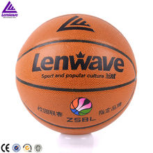 New brand PU basketball ball size 5 official net bag + free pin lenwave basketball for training level and popular crowd using ba