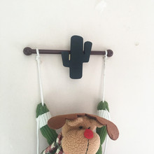 Nordic Wooden Cactus Hooks Hat/Clothing Hanger Home Decor Kid's Room Coat Hook Wall Decorations Best Gifts For Children
