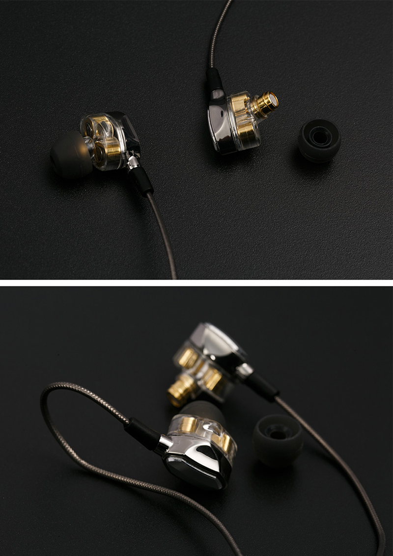 EHome G2 Headphones HiFi In-Ear Earphones Dual Dynamic Driver 4D Stereo Surround Professional Noise Cancelling Earbuds With Mic