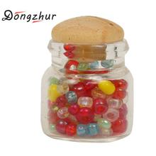 Dongzhur Miniatures Doll House Furniture Glass Candy Pot Cute Little Gift 1:12 Doll House Accessories Decoration Glass Candy Pot(China)