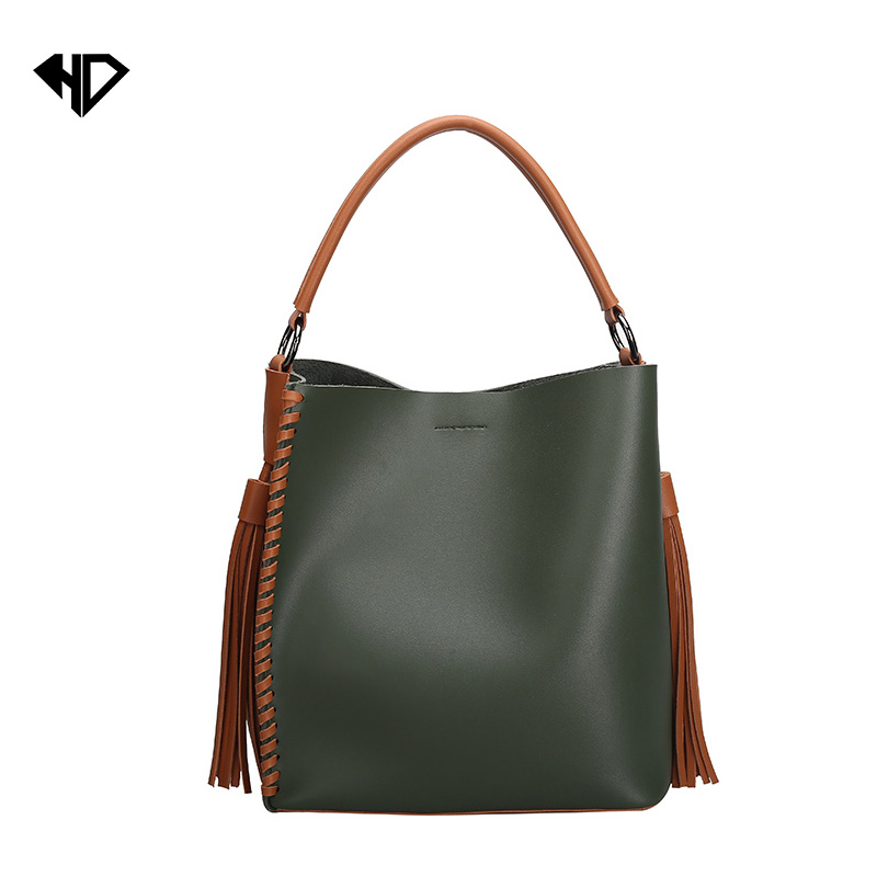 High quality Fashion Scrub Women Bucket Bag Vintage Tassel Messenger Bag Large Shoulder Bag Simple Crossbody Bag High capacity<br><br>Aliexpress