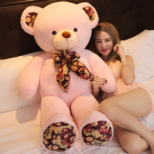 80cm/100cm Kawaii Teddy bear kids stuffed plush teddy toys high quality baby toys stuffed dolls for children