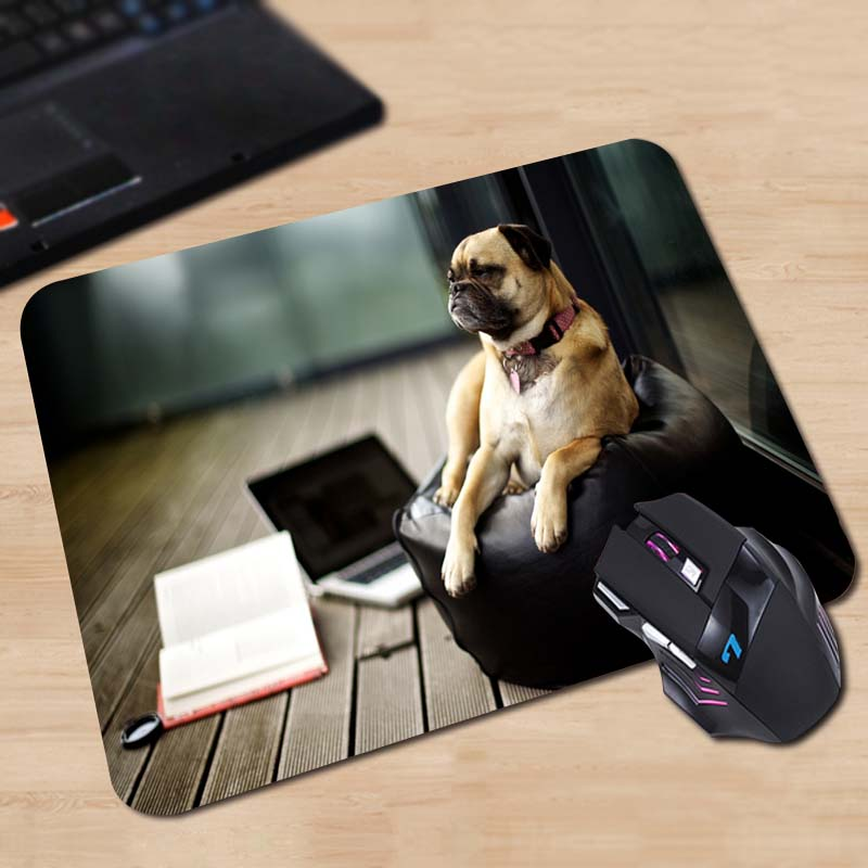 tired pug Best Sales Durable Soft Mouse Pad Fashion 180x220x2mm 250x290x2mm Mice