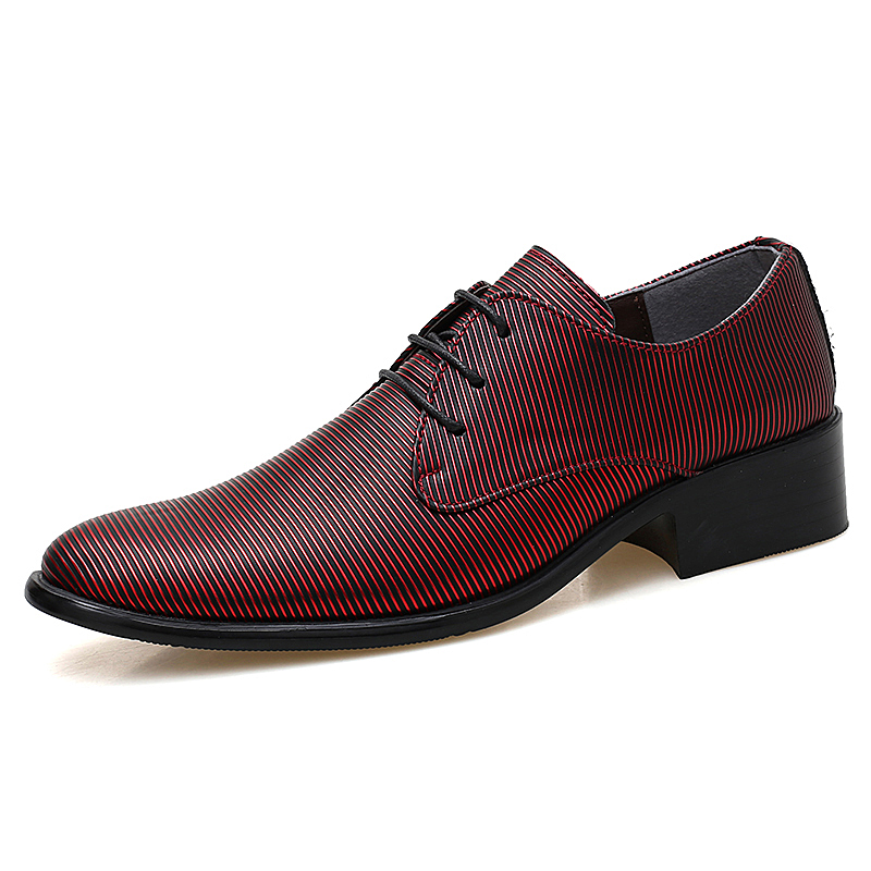 designer striped shoes men luxury brand fashion camouflage italian pointed male footwear designer man dress oxford shoes for men (44)