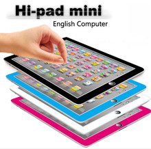 Hi Pad Mini Children Touch Screen Tablet English Learning Compute Machine Kids Laptop Education Toy Baby Child Toddler Toy Gift(China)
