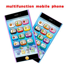 multifunction music toy mobile phone kid's learning&education machine,english language 8 large functions touch screen Yphone toy