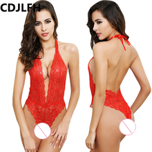 Buy CDJLFH Hot Sexy Lingerie Red Party Dress Latex Lingerie Sexy Hot Erotic Club Dress Women Costume Erotic Bodystocking Catsuit