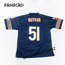 Retro star #51 Dick Butkus Embroidered Throwback Football Jersey(China)