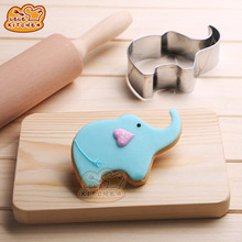 Animal ELEPHANT Shape Metal Cutter Cookie Aluminium Alloy Cake Mould Decorating Kitchen DIY For Making Cupcake/Fondant Cake 8060