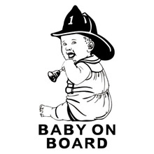 10*18.6CM BABY ON BOARD Vinyl Cartoon Decal Little Cowboy Shake Bell Car Styling Stickers Black/Silver C9-0019