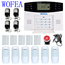 Wofea Russian Spanish Engish French quad band GSM alarm system Home seccurity alarm systems smart alarm system 2 years warranty(China)