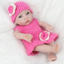 Buy Realistic Soft Silicone 3D Baby Dolls Newborn Girl Baby Mould Dolls Lifelike Full Silicone Body Wear Clothes Kids Playmates