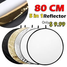 "31.5"" 80cm 5 in 1 Portable Collapsible Light Round Photography Reflector for Studio Multi Photo"