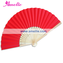 50Piece/Lot Wholesale Red Paper Party Decoration Wedding Personalized Gifts For Guests Customized Paper Fan For Wedding